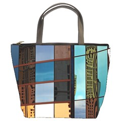 Glass Facade Colorful Architecture Bucket Bags