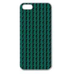 Golf Golfer Background Silhouette Apple Seamless Iphone 5 Case (clear)