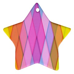 Graphics Colorful Color Wallpaper Star Ornament (two Sides)