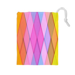 Graphics Colorful Color Wallpaper Drawstring Pouches (large)