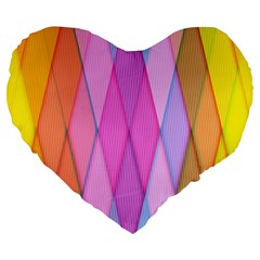 Graphics Colorful Color Wallpaper Large 19  Premium Flano Heart Shape Cushions by Nexatart