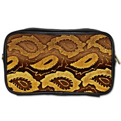 Golden Patterned Paper Toiletries Bags 2 Side