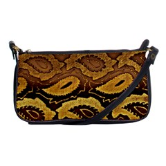 Golden Patterned Paper Shoulder Clutch Bags by Nexatart