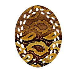 Golden Patterned Paper Oval Filigree Ornament (two Sides)