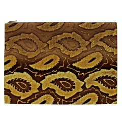Golden Patterned Paper Cosmetic Bag (xxl)
