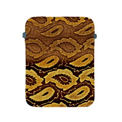 Golden Patterned Paper Apple Ipad 2/3/4 Protective Soft Cases
