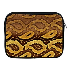 Golden Patterned Paper Apple Ipad 2/3/4 Zipper Cases