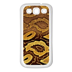 Golden Patterned Paper Samsung Galaxy S3 Back Case (white)