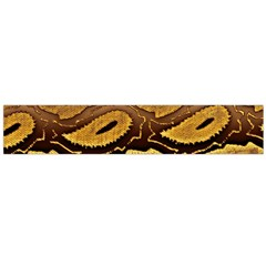 Golden Patterned Paper Flano Scarf (large)