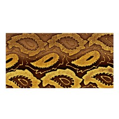 Golden Patterned Paper Satin Shawl