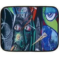 Graffiti Art Urban Design Paint Double Sided Fleece Blanket (mini)  by Nexatart