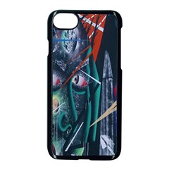 Graffiti Art Urban Design Paint Apple Iphone 7 Seamless Case (black) by Nexatart