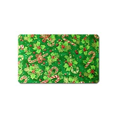 Green Holly Magnet (name Card)