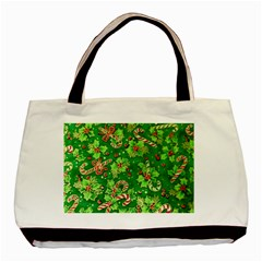 Green Holly Basic Tote Bag by Nexatart