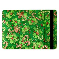 Green Holly Samsung Galaxy Tab Pro 12 2  Flip Case