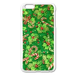 Green Holly Apple Iphone 6 Plus/6s Plus Enamel White Case