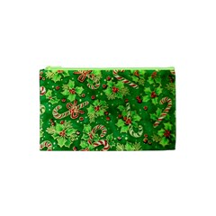 Green Holly Cosmetic Bag (xs) by Nexatart