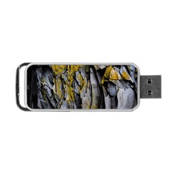 Grey Yellow Stone  Portable Usb Flash (one Side)