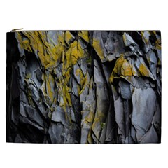 Grey Yellow Stone  Cosmetic Bag (xxl)
