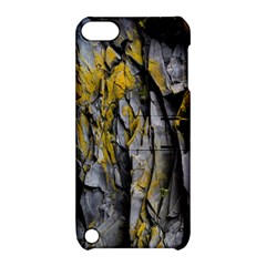Grey Yellow Stone  Apple Ipod Touch 5 Hardshell Case With Stand