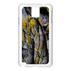 Grey Yellow Stone  Samsung Galaxy Note 3 N9005 Case (white)