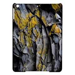 Grey Yellow Stone  Ipad Air Hardshell Cases by Nexatart