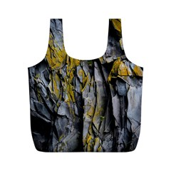 Grey Yellow Stone  Full Print Recycle Bags (m)  by Nexatart