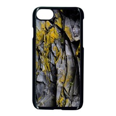 Grey Yellow Stone  Apple Iphone 7 Seamless Case (black) by Nexatart