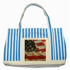 Grunge United State Of Art Flag Striped Blue Tote Bag by Nexatart