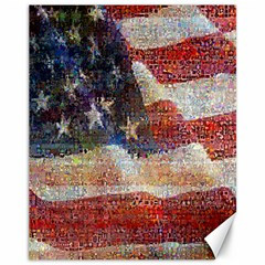 Grunge United State Of Art Flag Canvas 11  X 14   by Nexatart