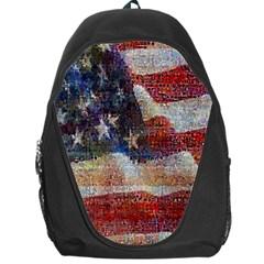 Grunge United State Of Art Flag Backpack Bag by Nexatart