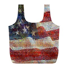 Grunge United State Of Art Flag Full Print Recycle Bags (l)  by Nexatart