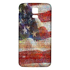 Grunge United State Of Art Flag Samsung Galaxy S5 Back Case (white)