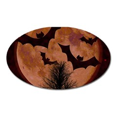 Halloween Card Scrapbook Page Oval Magnet by Nexatart