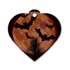 Halloween Card Scrapbook Page Dog Tag Heart (one Side) by Nexatart
