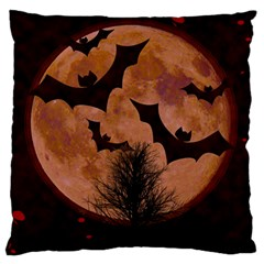 Halloween Card Scrapbook Page Large Flano Cushion Case (two Sides) by Nexatart