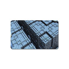 Grid Maths Geometry Design Pattern Magnet (name Card)
