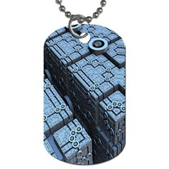 Grid Maths Geometry Design Pattern Dog Tag (One Side) by Nexatart