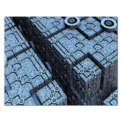 Grid Maths Geometry Design Pattern Rectangular Jigsaw Puzzl by Nexatart