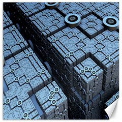 Grid Maths Geometry Design Pattern Canvas 16  X 16   by Nexatart