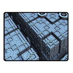 Grid Maths Geometry Design Pattern Double Sided Fleece Blanket (small)