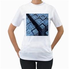 Grid Maths Geometry Design Pattern Women s T Shirt (white)