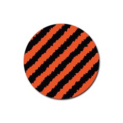 Halloween Background Rubber Round Coaster (4 Pack)