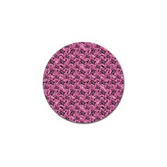 Floral Pink Collage Pattern Golf Ball Marker (4 Pack) by dflcprints