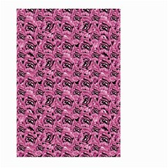 Floral Pink Collage Pattern Large Garden Flag (two Sides) by dflcprints