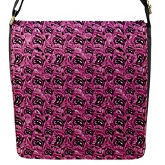 Floral Pink Collage Pattern Flap Messenger Bag (s) by dflcprints