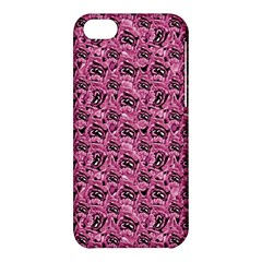 Floral Pink Collage Pattern Apple Iphone 5c Hardshell Case by dflcprints