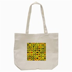Heart Circle Star Tote Bag (cream) by Nexatart