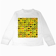 Heart Circle Star Kids Long Sleeve T Shirts by Nexatart
