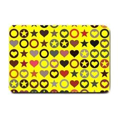 Heart Circle Star Small Doormat  by Nexatart